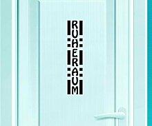 Türaufkleber Ruheraum Tür Anschrift Dekoration Sticker Tattoo Aufkleber 3D535, Farbe:Azurblau glanz;Hohe:75cm
