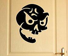 Türaufkleber Schädel Skull Totenkopf Skelett Horror Tür Sticker Aufkleber 5M225, Farbe:Pink glanz;Hohe:65cm