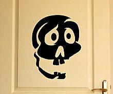 Türaufkleber Schädel Skull Totenkopf Skelett Horror Tür Sticker Aufkleber 5M227, Farbe:Lavendel glanz;Hohe:55cm