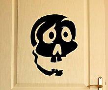 Türaufkleber Schädel Skull Totenkopf Skelett