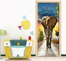 Türaufkleber Selbstklebender Elefant Der