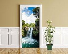 Türaufkleber - Tawhai Falls - Neuseeland - 90 x