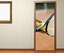 Türaufkleber Tennis Aufschlag Tennisschläger Tür Bild Türposter Türfolie Türtapete Poster Aufkleber 15A933, Türgrösse:90cmx200cm
