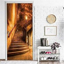 Türaufkleber Treppen 3D Tür Aufkleber Wallpaper