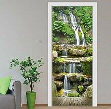Türaufkleber Tür Aufkleber Wohnkultur Wasserfall