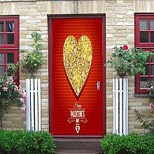 Türaufkleber Türplakat Goldene Liebe