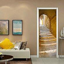 Türaufkleber, Türwand, selbstklebende Aufkleber,