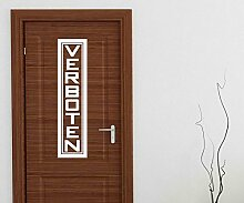 Türaufkleber Verboten Tür Anschrift Dekoration Sticker Tattoo Aufkleber 3D590, Farbe:Braun glanz;Hohe:70cm