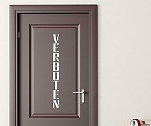 Türaufkleber Verboten Tür Anschrift Wahrnung Sticker Tattoo Aufkleber 3D589, Farbe:Beige glanz;Hohe:200cm