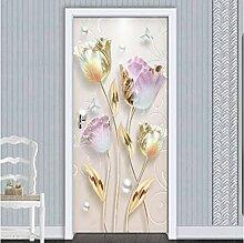 Türaufkleber Wandbild, New Modern Embossed Tulip
