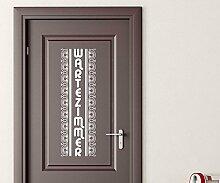 Türaufkleber Wartezimmer Tür Anschrift