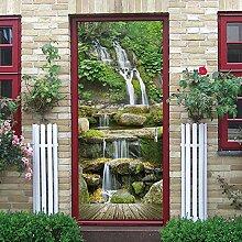 Türaufkleber Wasserfall Landschaft Tür Aufkleber