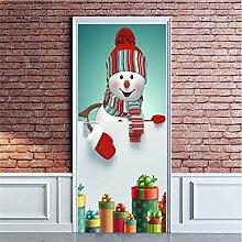 Türaufkleber Weihnachtsschmuck für zu Hause 2019