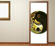 Türaufkleber yin yang Symbol Feng Shui Asia Tür