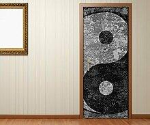 Türaufkleber Yin & Yang Symbol Feng Shui Zen