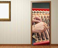 TüraufkleberMusik Manier spielen Spieler Kunst