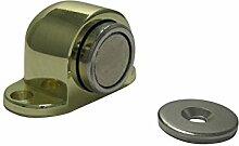 Türfeststeller Tür Feststeller Türfesthalter Türstopper Magnet vermessingt Messing