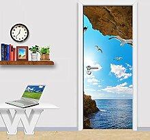 Türfolie Poster Türposter Blauer Himmel Weiße