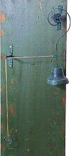 Türglocke Glocke Metall antikgrün lackiert