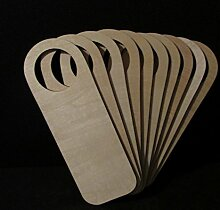 Türhänger, aus Holz, groß, 20 cm, Holz-Kleiderbügel (x 200 mm) 7 cm 70 mm), beige, 20cm x 7cm