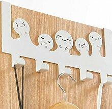 Türhaken Kleiderhaken Edelstahl Haken zum Hängen über die Tür mit 5 Haken für Mäntel, Hüte, Bademäntel, Handtücher