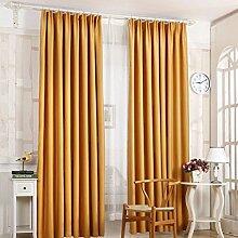 Türkei 1Pure Color Schlafzimmer Verdunkelung Tür Fenster Vorhänge Weich Kunstseide Sonnenschutz Volants 210x 100cm gelb