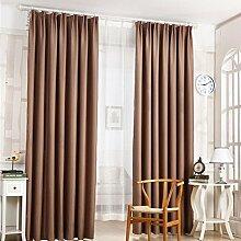 Türkei 1Pure Color Schlafzimmer Verdunkelung Tür Fenster Vorhänge Weich Kunstseide Sonnenschutz Volants 210x 100cm coffee