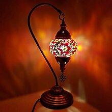 Türkei/Marokkanische Lampe Glas Schreibtischlampe