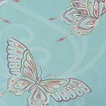 Türkis Blau - 10301 - Papillon - Schmetterlinge Schmetterling Holden Decor Tapete