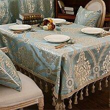 Türkis Geblümt Tischdecken Baumwolle leinen Europäischen königlichen Mittelmeer Esstisch Rezeption rechteckigen Square nicht bügeln umweltfreundlich garten Tischtuch