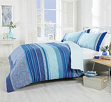 T/ürkisch Gemustert Geometrisch Gestreift Blaugr/ün Baumwollmischung Bettbezug