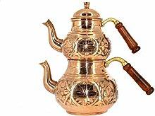 Türkisch Kupfer Teekanne Orginal Handarbei