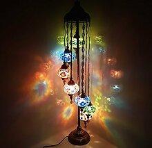 Türkisch Marokkanische Tiffany Stil Glasmosaik Ottomane Stehlampe Nachtlicht - Ottomane 7B_Boden- LAMPE