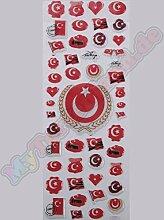 Türkische Flagge Face Sticker Aufkleber