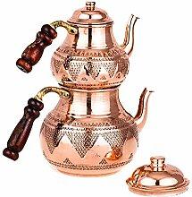 Türkische Kupfer Teekanne -Teekocher -Türkische