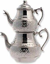Türkische traditionelle Teekanne Handgehämmert