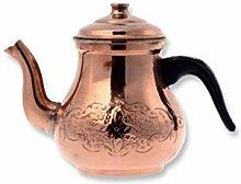 Türkische traditionelle Teekanne Teekanne bronz