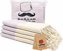 Türkisches Handtuch-Set, 4 Stück,