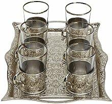 Türkisches Tee-Set für 6 Gläser mit