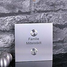 Türklingel Edelstahl mit Lichttaster 120 x 120 mm
