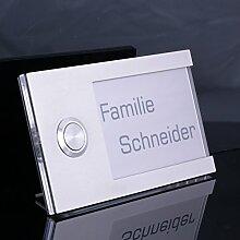 Türklingel mit Acrylglas 130 x 75mm Klingelplatte
