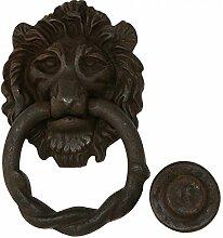Türklopfer Löwe Löwenkopf Eisen antik Tür Ring Tor Klopfer Eisenring