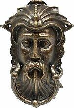 Türklopfer Wikinger Kopf Türklopfer Eisen Bronze Farbe nordischer Männerkopf Tür Klopfer