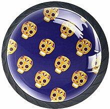 Türknäufe aus Glas, rund, mit Schraube, für