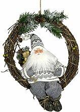 Türkranz Adventskranz mit Santa Ulf 30cm