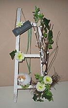 Türkranz Frühjahrsdeko Dekoleiter mit verschiedenen Tieren Handarbeit 42 cm - Frühling - Ostern - Willkommensgruß 220 (mit Schaf)