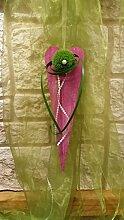 Türkranz Türschmuck Nr.9 Holzherz pink 40 cm mit