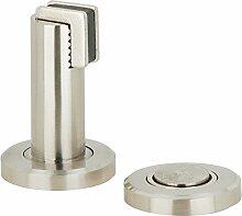 Türmagnet Edelstahl-Optik Magnet-Türfeststeller - Modell H3685 | Türstopper mit 5 kg | Metall massiv | Möbelbeschläge von GedoTec®