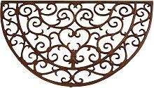 Türmatte Fußmatte aus Metall antik braun
