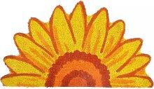 Türmatte, Fußmatte SONNENBLUME, gelb, 60x40cm, halbrund, Esschert Design (12,95 EUR / Stück)